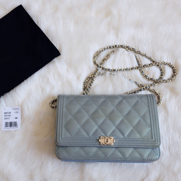 1fcbbf471fc8 CHANEL Handbags - Chanel Blue Quilted Iridescent WOC Wallet On Chain